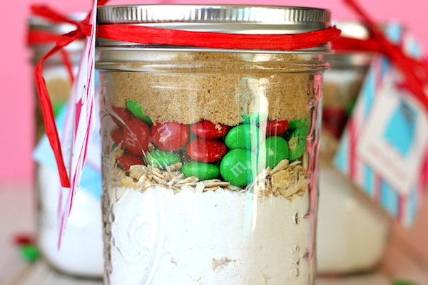 M&M Cookie Mason Jar