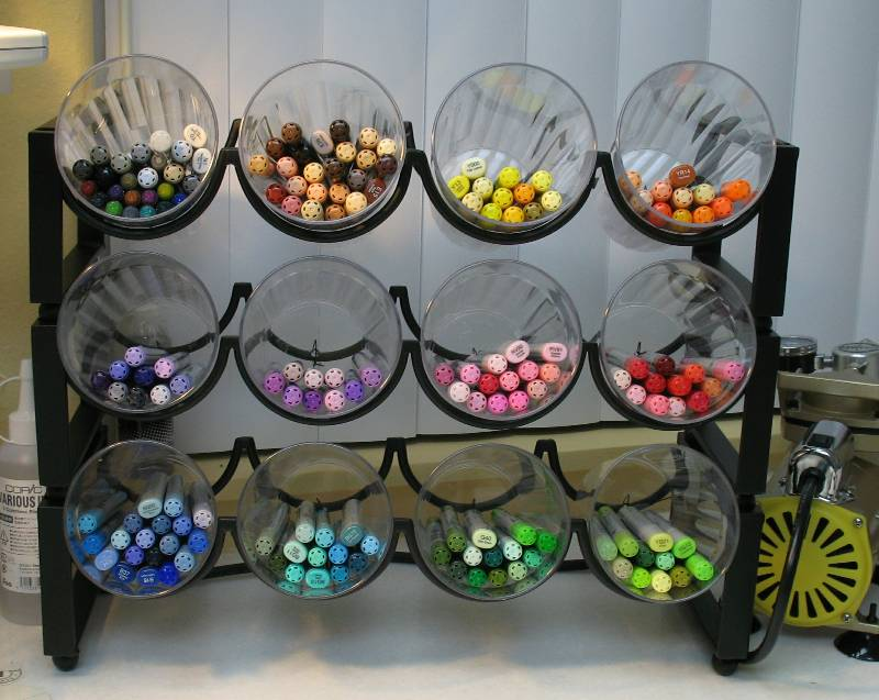 Marker Craft Room Storage DIY