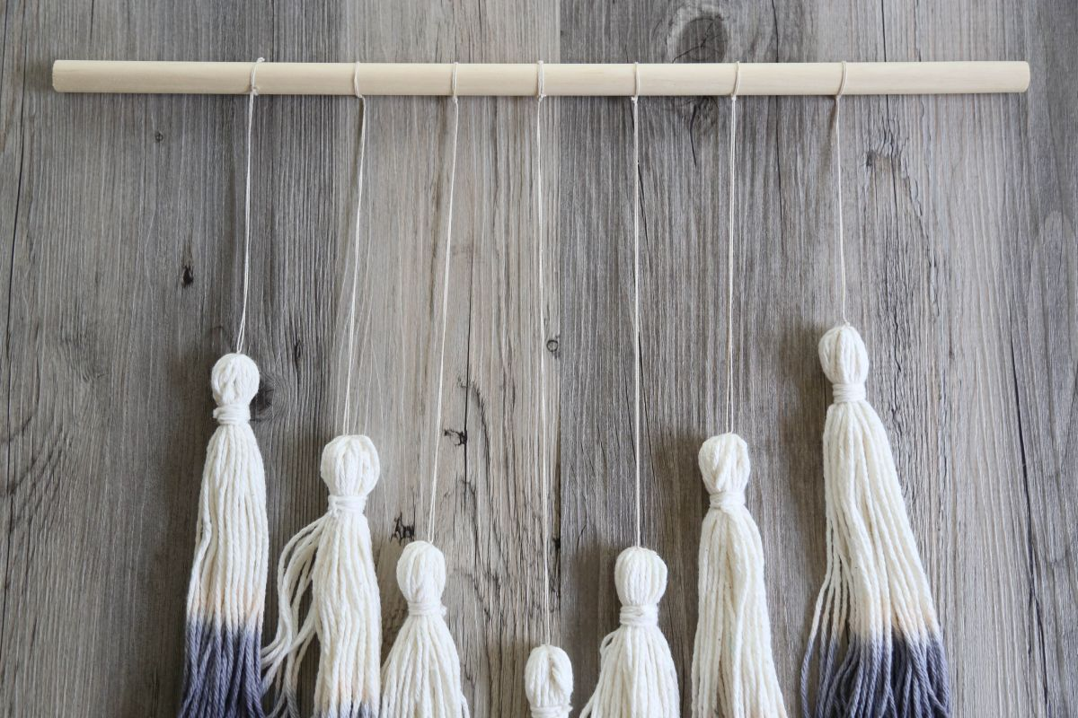 Ombre Tassel Wall Hanging Display