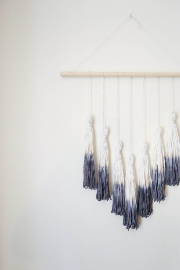 Ombre Tassel Wall Hanging Finished
