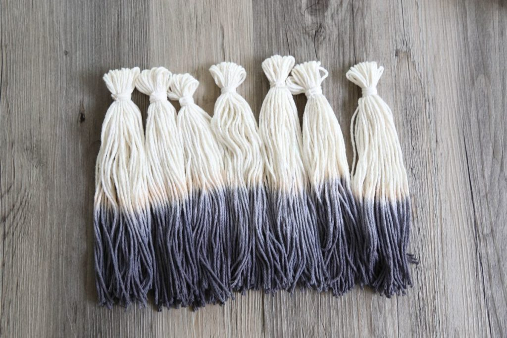 Ombre Tassel Wall Hanging String