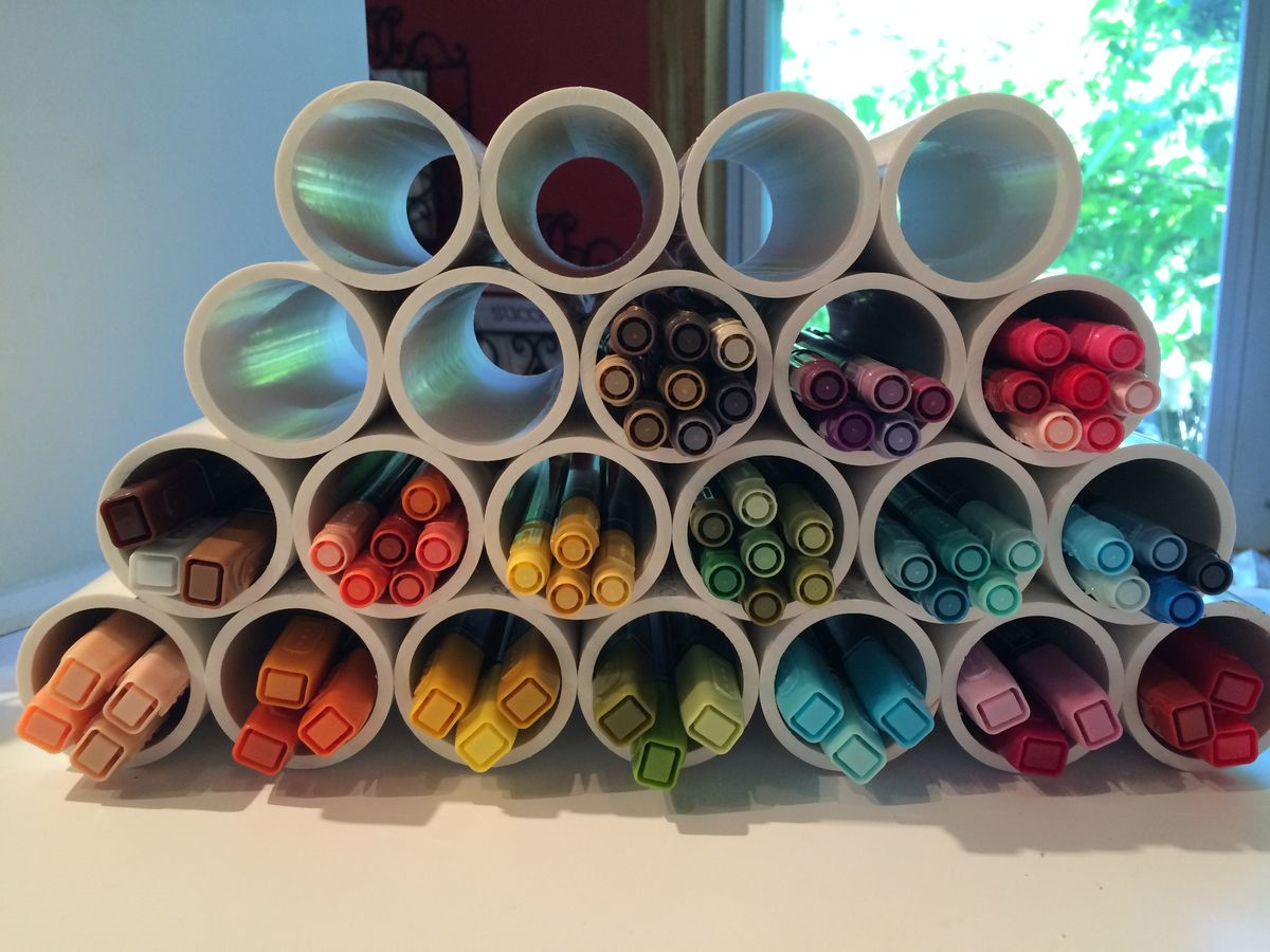 PVC Pipe Marker Storage DIY