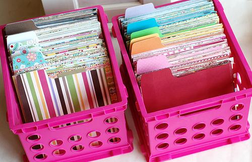 Paper Scrap Storage DIY