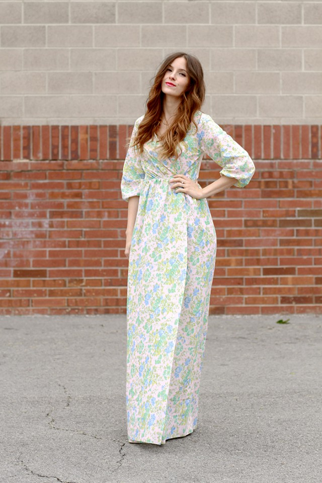 Peasant Wrap Maxi Dress Tutorial