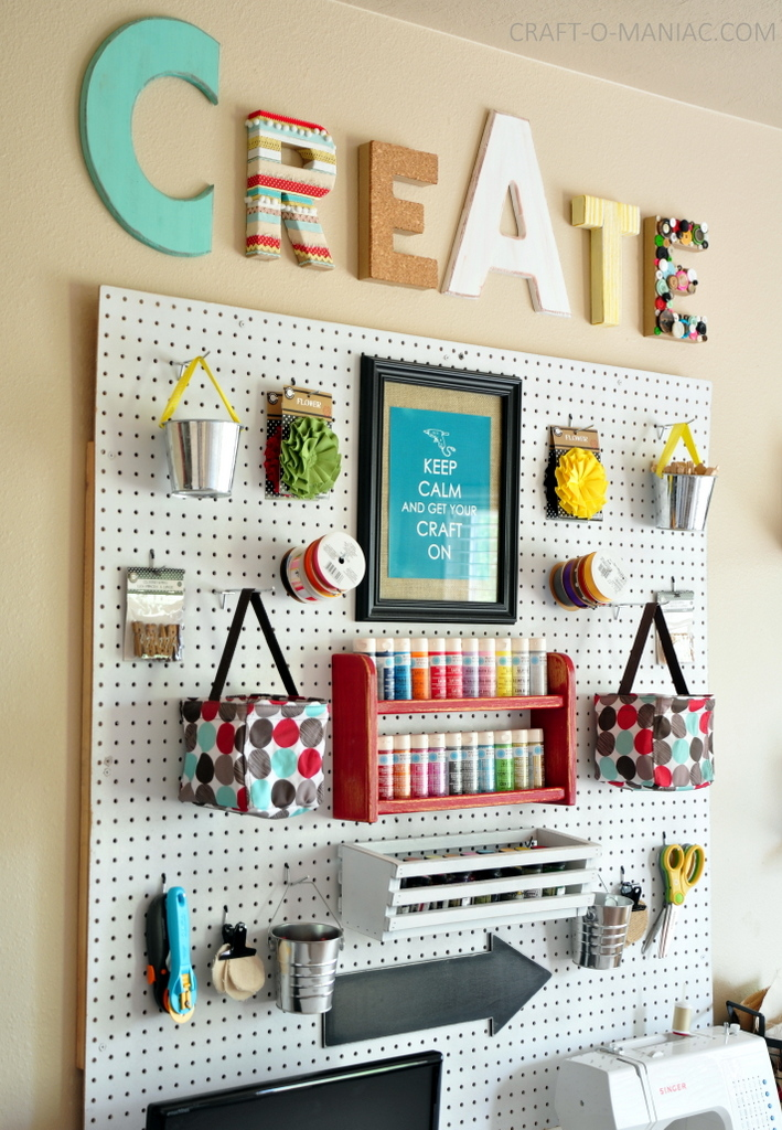 Pegboard Crafting Organization Craft DIY