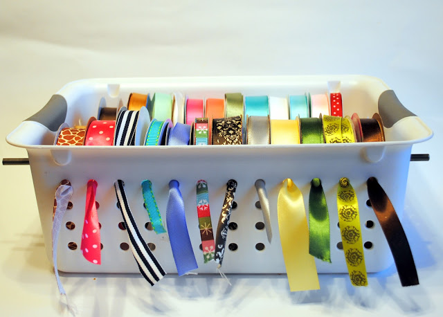 Ribbon Organizer Basket DIY
