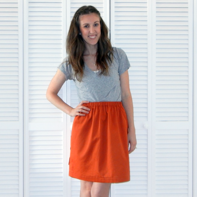 Simple Beginner Skirt Sewing Tutorial