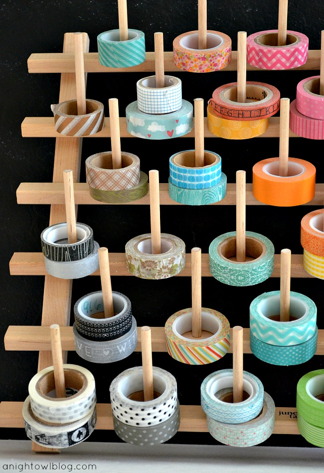 Washi Tape Thread Rack DIY