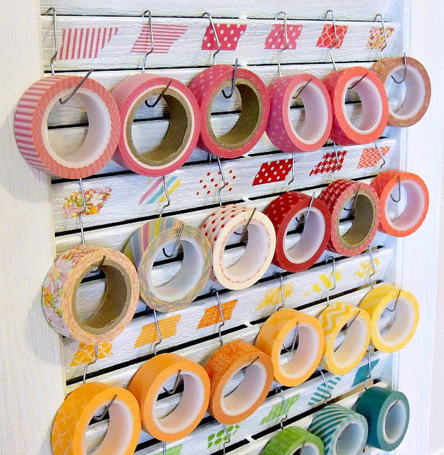 Washi tape Shutter diy