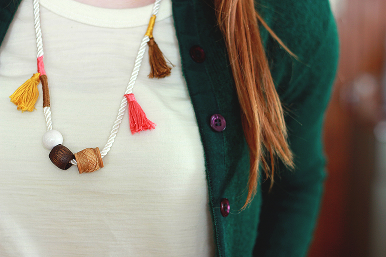 anthropology tassel necklace
