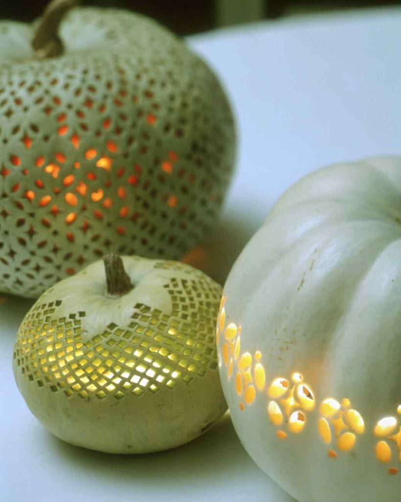 carved lace pumpkins
