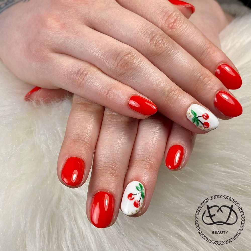 Cherry touch Nail designs