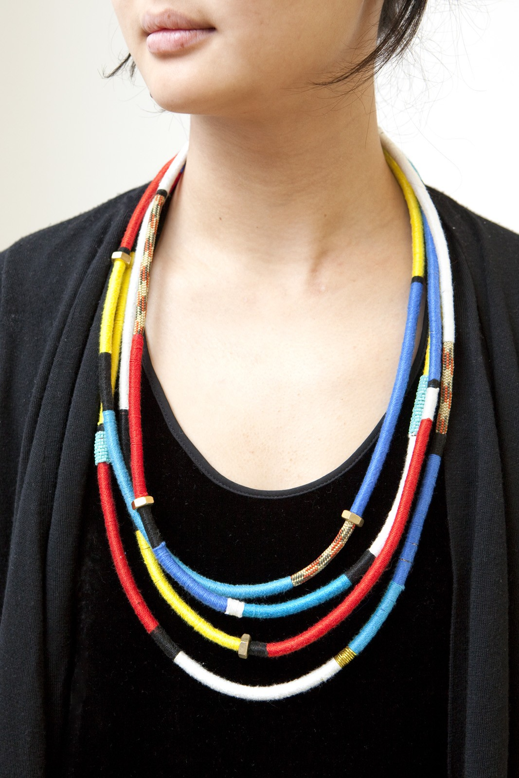 colorful rope necklace