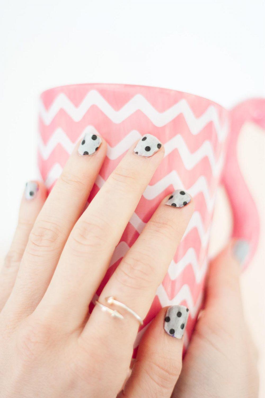 Diy washi tape nails set