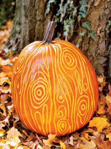 faux bois pumpkin