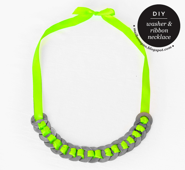 neon washer nacklace