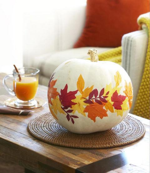 paper leaf pumpkins
