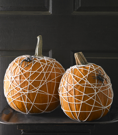 spider web pumpkins