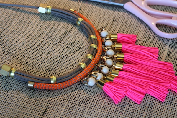 tassel rope necklace