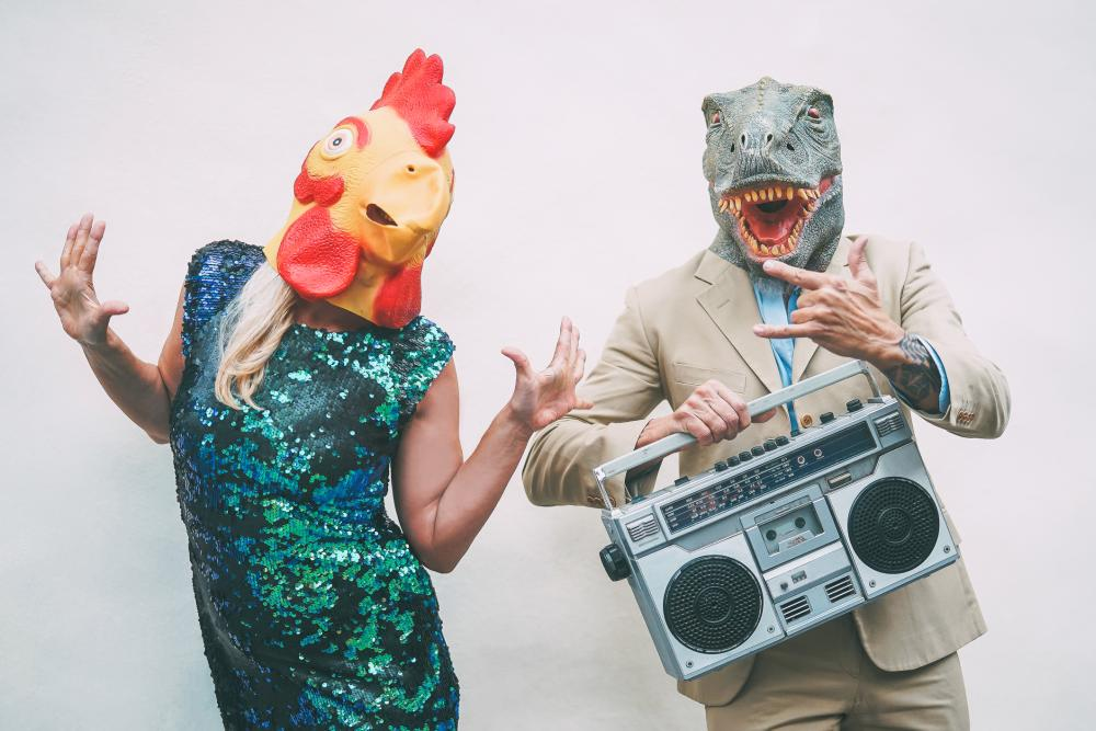 Animal heads funny halloween costumes