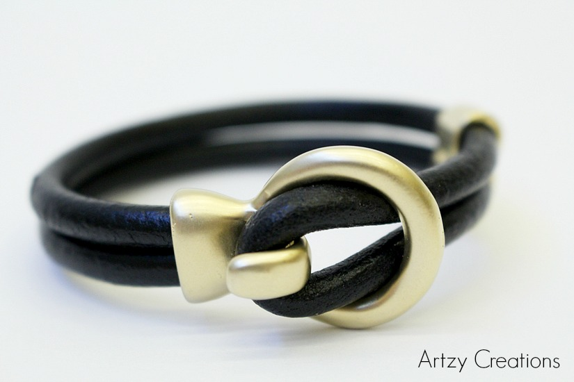 Artzy Creations 5 Min Leather Bracelet 1