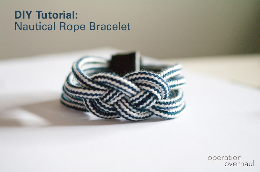 Beaded Nautical Rope DIY Bracelet