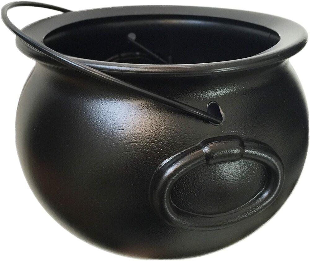Black cauldron kettle halloween porch decor