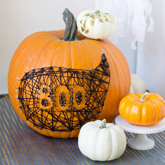 Boo Pumpkin DIY Centerpiece