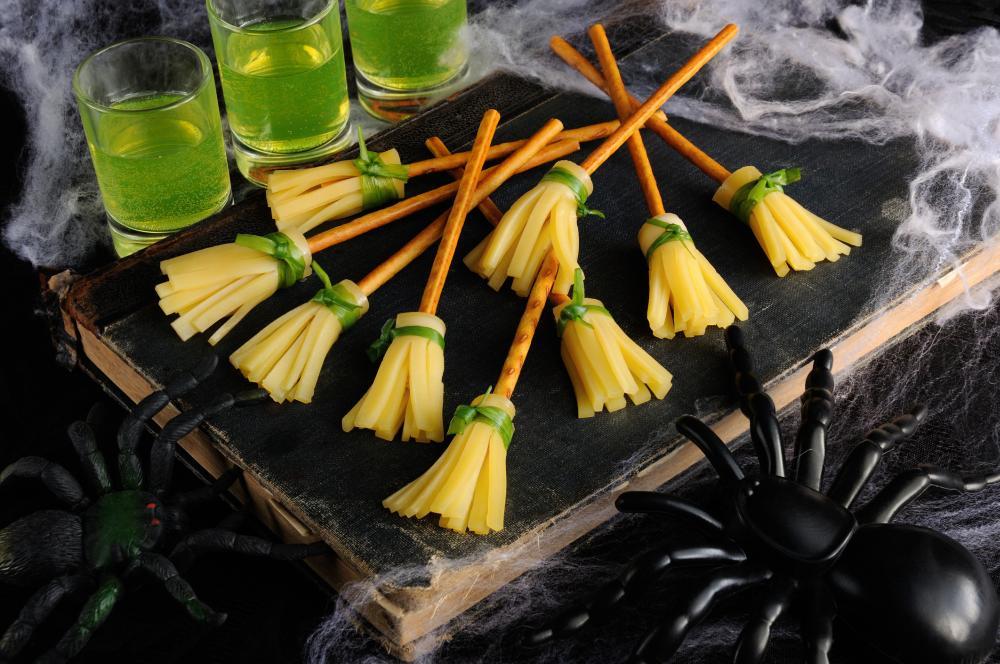 Broom witch halloween snacks