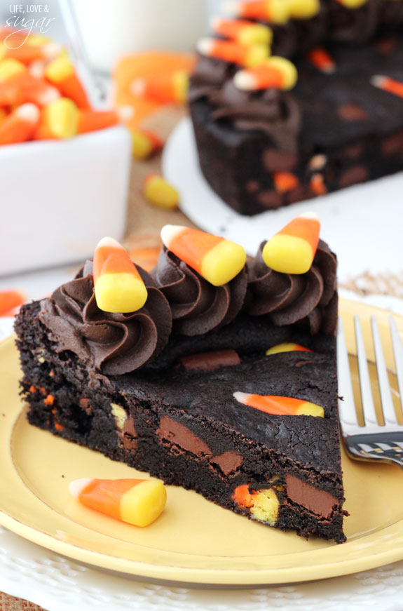 Chocolate Chip Candy Corn Cake Halloween