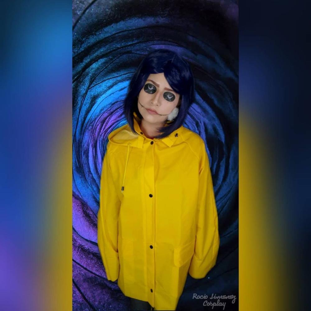 Coraline blue hair halloween costume