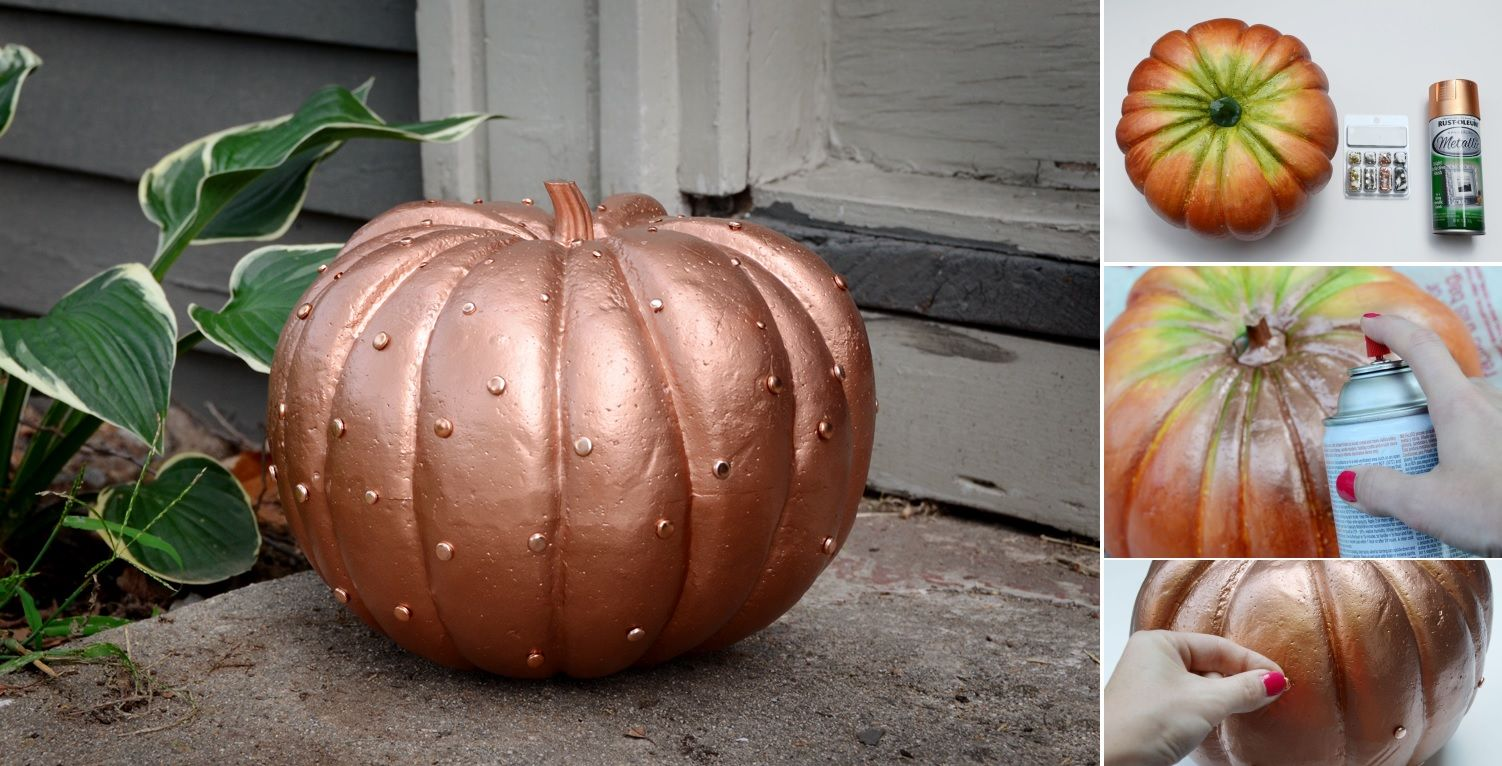 Easy Glamorous Copper Pumpkin Tutorial - photo#29