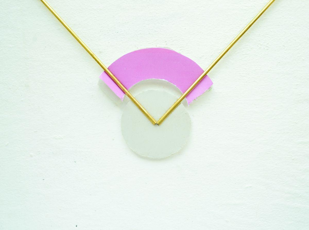 DIY Geometrical Brass Necklace Arrange