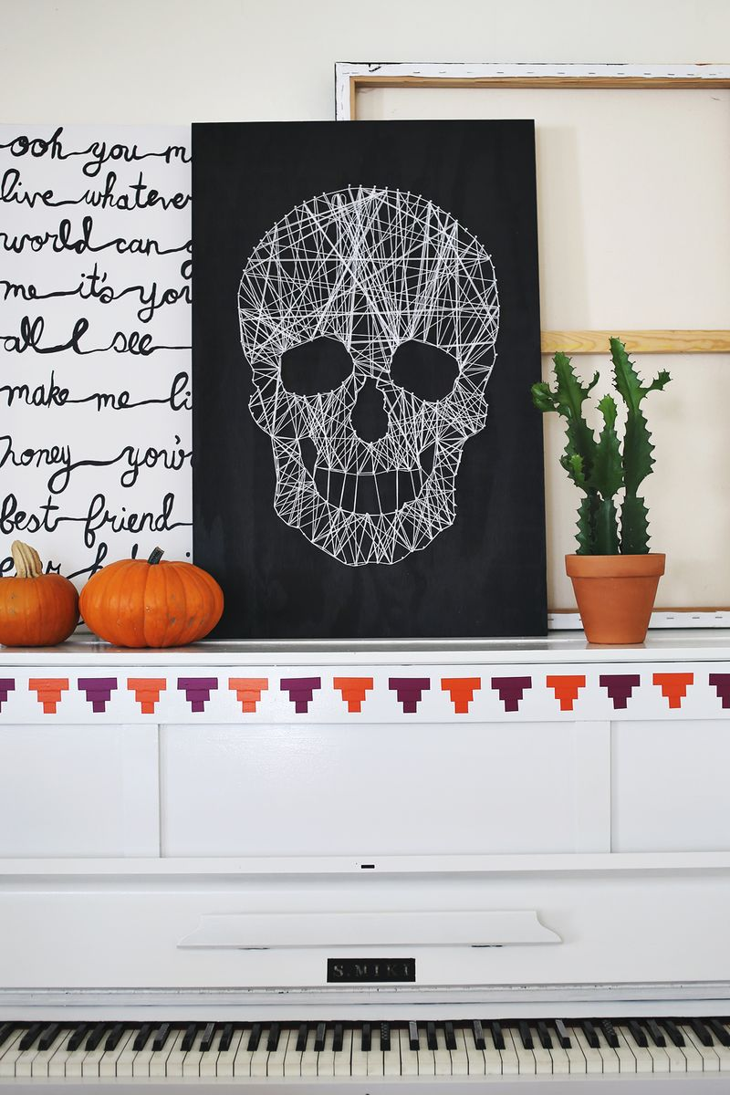 DIY Halloween String Art