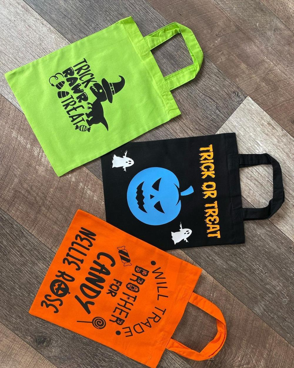 Diy halloween treat bags  funny messages