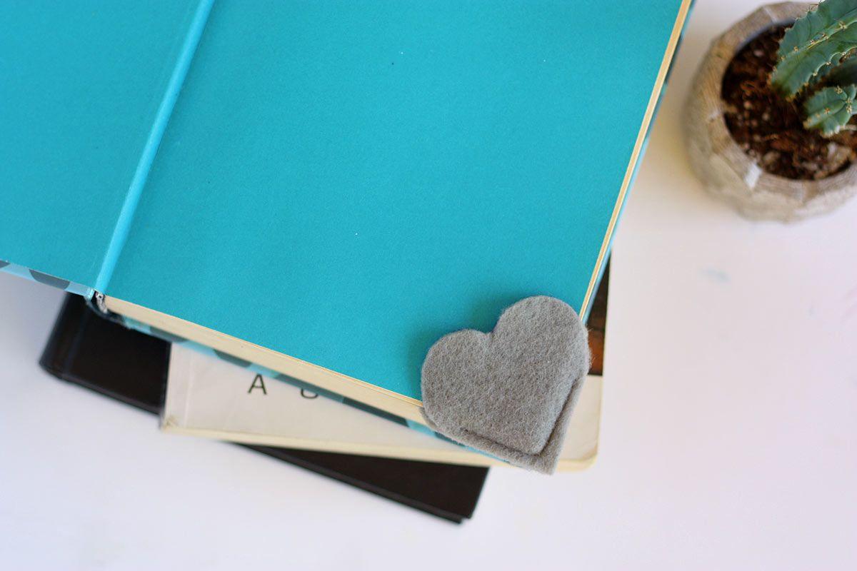 DIY Heart Bookmark Back to School