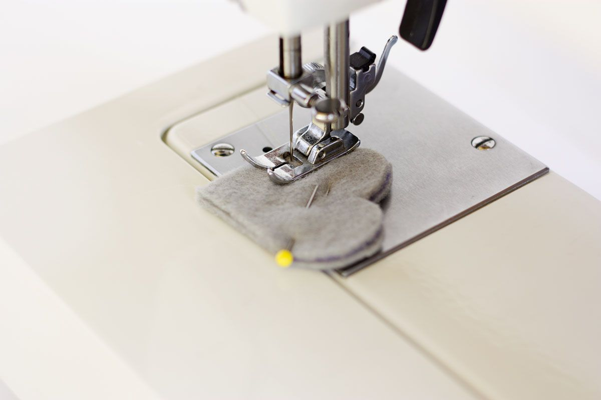 DIY Heart Bookmark Sew