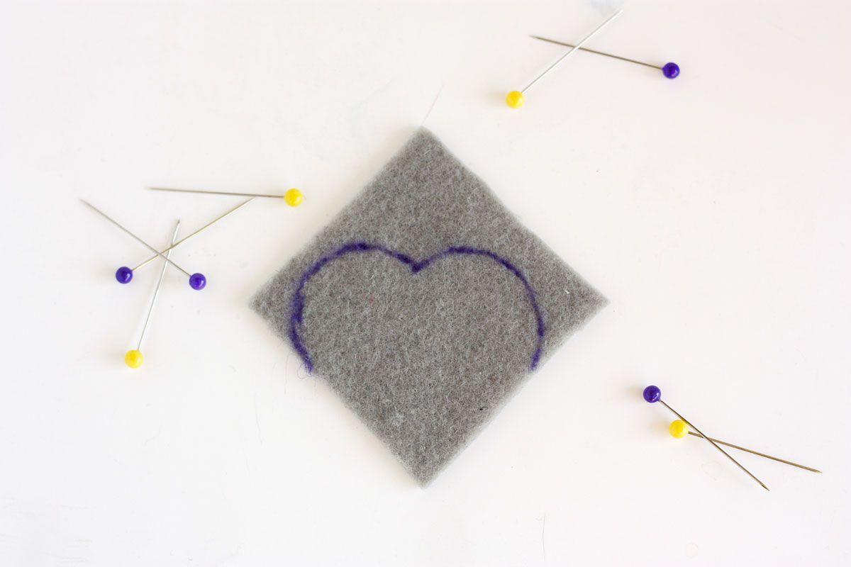 DIY Heart Bookmark Start Drawing