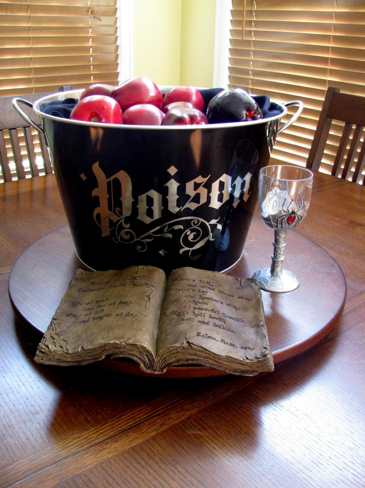 DIY POison Apple Centerpiece