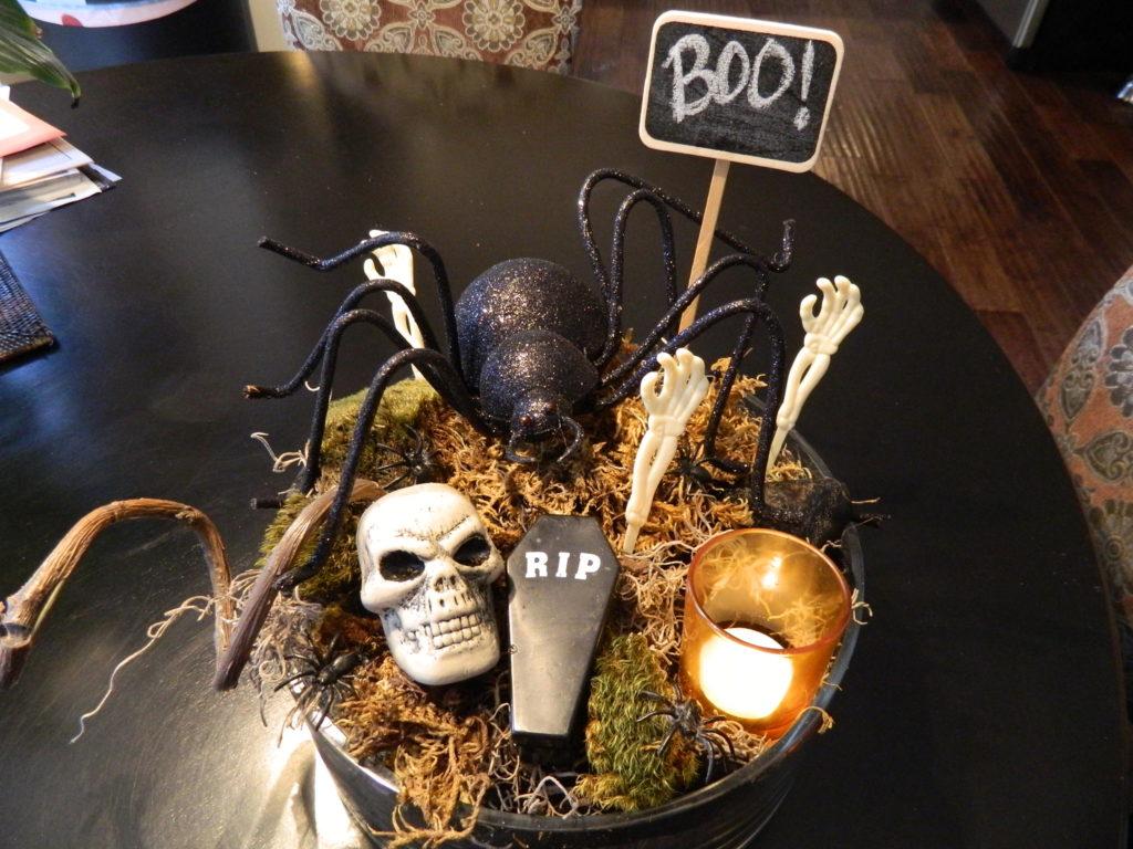 DIY Spooky Halloween Centerpiece