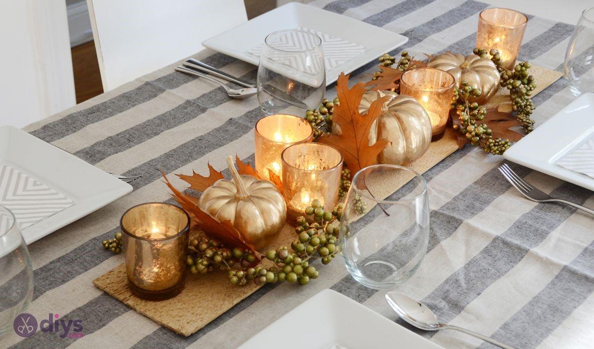Diy thanksgiving table decor idea