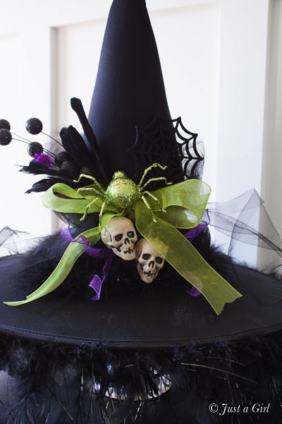 DIY Witches Hat - Halloween Decor from Just a Girl.