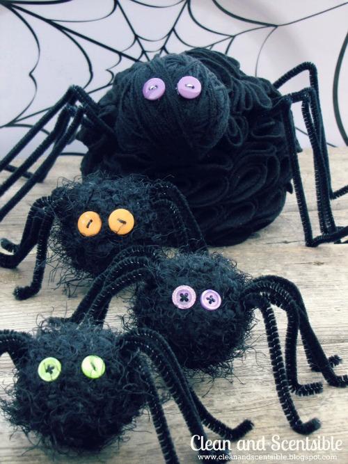 Felt Ruffle Spider DIY