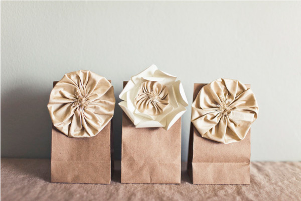 Floral Paper Bag Gift Wrapping