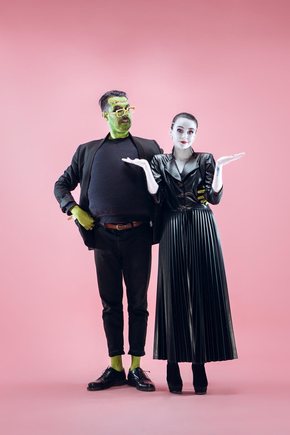 Frankenstein's monster and his bride scary halloween costumes
