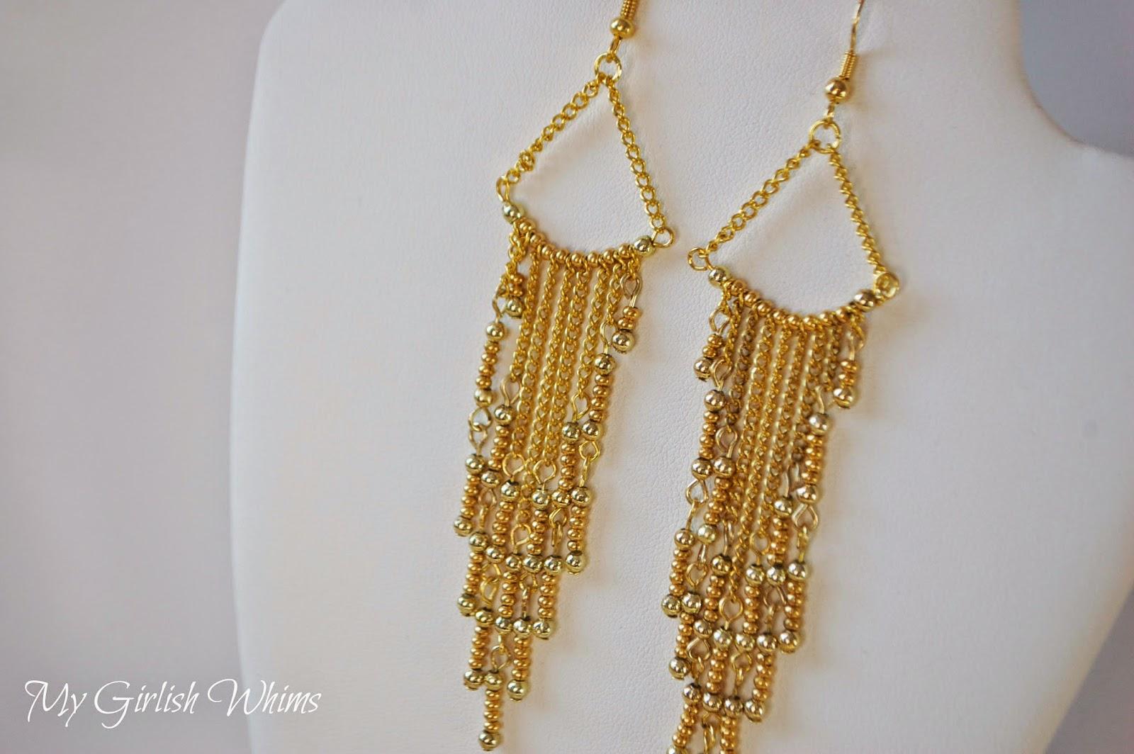 Gold Earrings DIY Earrings
