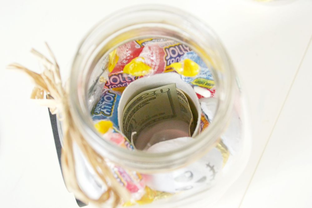 Halloween Boo Candy Jars Fill
