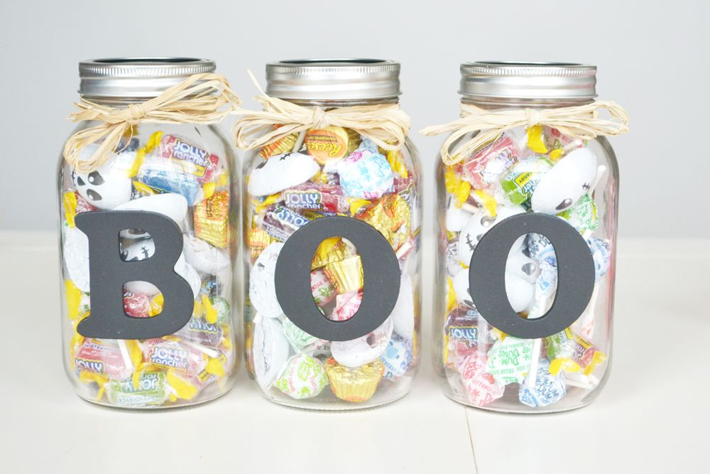 Halloween Boo Candy Jars