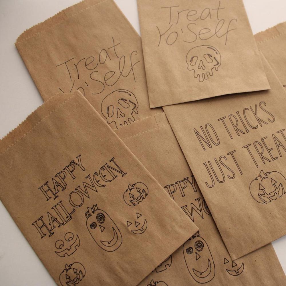Halloween favor bags brown paper bags