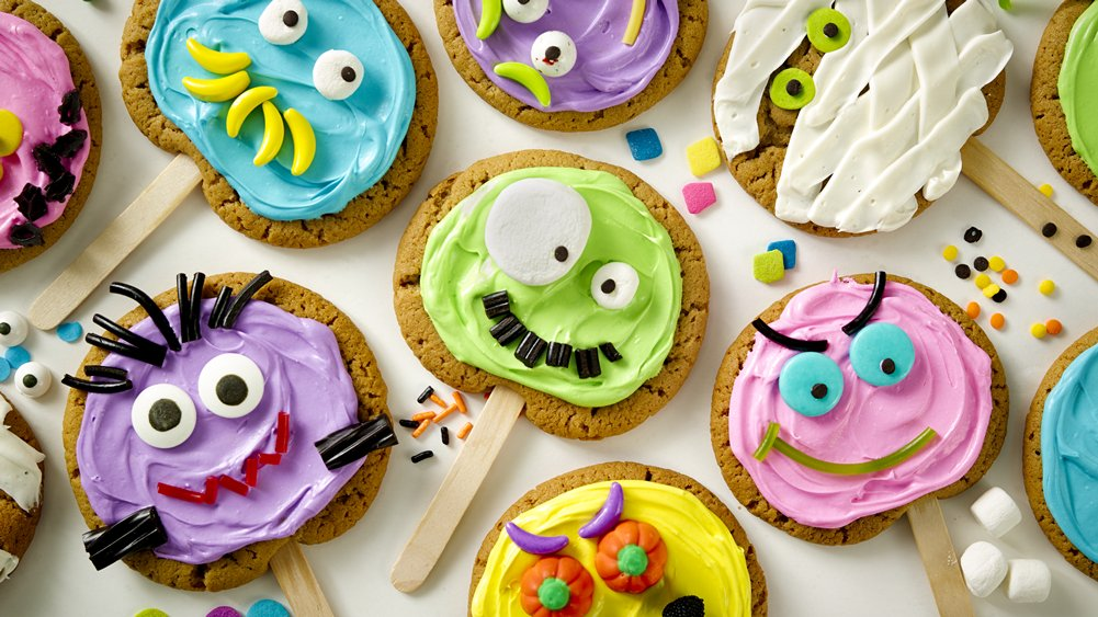 Halloween Monster Cookie Pops